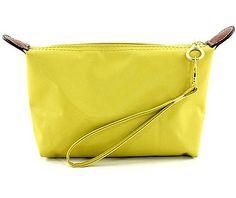 Nylon Cosmetic Bags w/ Wristlet - Yellow -BG-HM1006YL