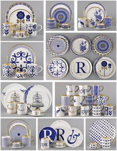 of flux Beautiful cobalt blue china to jazz up my collection. Love the letter plates and the ampersand!Beautiful cobalt blue china to jazz up my collection. Love the letter plates and the ampersand! Blue And White China, Blue China, Delft, Blue Pottery, White Dishes, Blue Plates, China Patterns, White Decor, Ceramic Art
