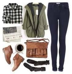 Untitled by hanaglatison on Polyvore featuring мода, Woolrich, Topshop, Polder, Madewell and Rowallan