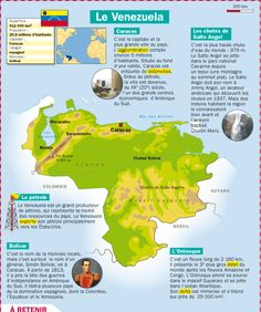 Fiche exposés : Le Venezuela Spanish Class, Learning Spanish, French Classroom, Teacher Supplies, Learn French, French Language, How To Memorize Things, Continents, Europe