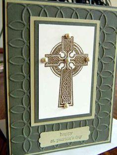 Handmade, Hand Stamped St. Patrick's Day card by MissBehavinTrio