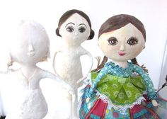 Mixed Media Paper Mache Art Doll
