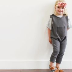 Gorgeous Mia in our plush Grey French Terry Romper looking so cozy!