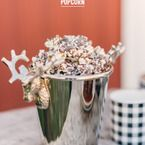 Chocolate Candy Cane Popcorn | Style Me Pretty