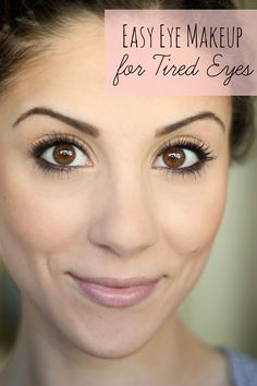 Looking tired? Check out this EASY Eye Makeup for Tired Eyes tutorial to brighten up those dark circles!