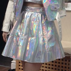 437a7e2b623 Amazing GFD store (glitters for dinner) holographic hologram skirt! Photos  don t