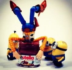 Minions, woody, nutella shared by Miroslava Sanchez Bad Minion, Minions, Minion Toy, Barack Obama, Creepy Woody, Trip Drug, Disney Pictures, Funny Pictures, Pixar