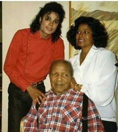 Michael with his mother Katherine and his grandfather Prince Albert Scruse (1907 - 1997)