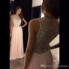 Cheap dress character, Buy Quality dress tuxedo directly from China dress map Suppliers: Popular Vestidos De Baile Sleeveless Beaded Crystal A Line Chiffon Evening Gown Pink Prom Dresses 2016 Prom Dresses Long Pink, Prom Dresses 2016, Cheap Prom Dresses, Formal Dresses, Formal Prom, Dresses Dresses, Chiffon Dresses, Dresses Online, Bridesmaid Dresses
