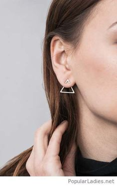 Geometric metal dainty minimalist earrings-  Minimalist jewelry|Minimalist fashion|Minimalist jewelry earrings|Jewelry trend 2018|Minimalist earrings|