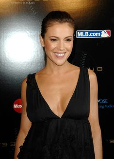 """Alyssa Milano Photos Photos - Actress Alyssa Milano attends the """"33 Club party"""" presented by MLB.com at the Roseland Ballroom on July 13, 2008 in New York City.  (Photo by Joe Corrigan/Getty Images) * Local Caption * Alyssa Milano - 33 Club Party Presented By MLB.com"""