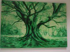 Sauro Tupini L'albero (2011). Acrilico su tavola