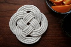 Sailor's Rope Trivet  Easy as could be: All you need is rope, a scissor, and a thread and needle to make these nautical-inspired trivets. We'd love to receive a set of these as a homemade gift!