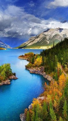 Abraham Lake North Saskatchewan River western Alberta Canada