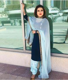 Indian Dresses, Indian Outfits, Shalwar Kameez, Patiala, Kurti, Punjabi Suit Neck Designs, Embroidery Suits Punjabi, Punjabi Salwar Suits, Afghan Dresses