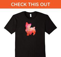 Mens SHIH-POO Watercolor T-Shirt, Dog Watercolor Painting T-shirt 2XL Black - Animal shirts (*Amazon Partner-Link)