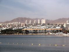 Eilat, Israel - Scenic View, residential area as seen from the Red Sea (אילת)