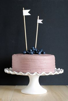 The Moistest Chocolate Cake with Berry Mascarpone Frosting. A pinterest recipe I actually made =)