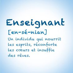 Teacher Appreciation Quotes, Teacher Quotes, French Words, French Quotes, Tracher Gifts, French Classroom, Quote Citation, French Teacher, Employee Gifts