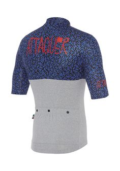 All Day Classic Coral Jersey Dazzling Blue/Grey Cycling Jersey Attaquer - 2