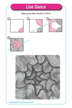 Best Line Art Design Doodles Zen Tangles Ideas Zentangle Drawings, Doodles Zentangles, Doodle Drawings, Doodle Art, Zen Doodle Patterns, Zentangle Patterns, Cool Patterns To Draw, Line Patterns, Doodle Borders