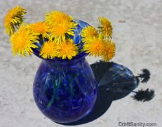 CraftSanity – A blog and podcast for those who love everything handmade » Mother's Day Dandelion Fork Flower Tutorial