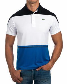 Polos Lacoste manga corta Sport - Tricolor Camisa Polo, African Men Fashion, Mens Fashion, Polos Lacoste, Polo Outfit, Moda Casual, Polo Club, Chor, Sport Wear
