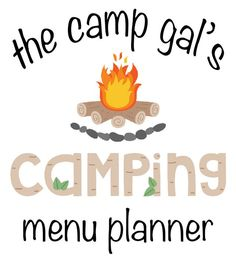 Menu Planner for Camping. Perfect for weekend trips! This is a nice looking version of what I usually do on a scrap of paper!