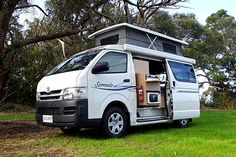 THE SORRENTO IS BASED ON A TOYOTA HIACE LONG WHEEL BASE AND HAS A POP TOP ROOF.