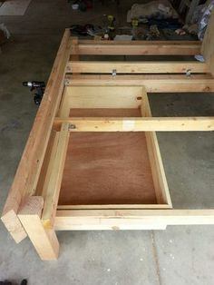 Diy Bed Frames With Storage platform bed with drawers | diy platform bed, platform beds and