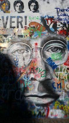 John Lennon wall. Prague.