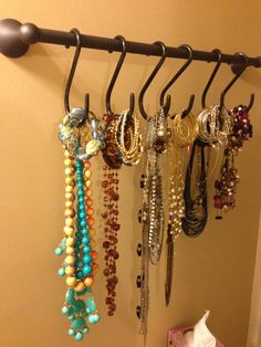 creative jewelry organization for tight spaces.