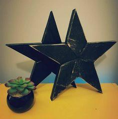 http://etsy.me/2o28R7b  #starsandpipes #love #rusticdecor #woodstars #homedecor