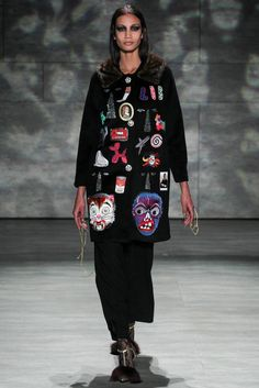 Libertine Fall 2015    Buy a vintage coat with fur collar and sew on various patches that have meaning for you.
