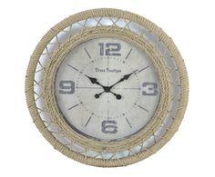 Часы настенные - дерево - бежевый, Ø60 см | Westwing Интерьер & Дизайн