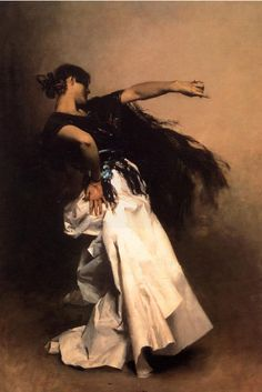 The Spanish Dancer, studie voor El Jaleo van John Singer Sargant, 1882