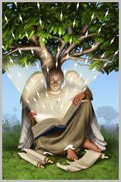 Archangel Jophiel--angel of creativity, beauty, and art.