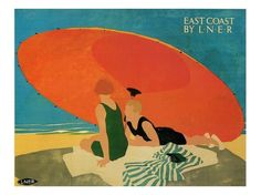 East Coast by LNER Poster. Artist: Tom Purvis.