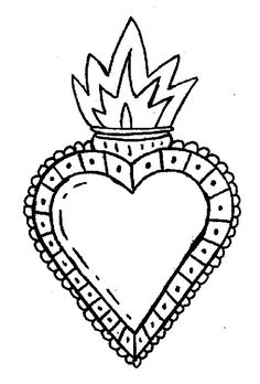 CORAZONES MEXICANOS PLANTILLAS Y DIBUJOS Embroidery On Clothes, Hand Embroidery Patterns, Embroidery Art, Machine Embroidery, Traditional Tattoo Old School, Aluminum Can Crafts, Cool Wall Art, Tin Art, Heart Template