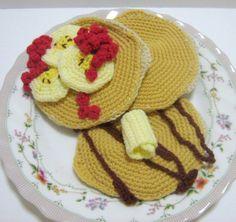 Crochet Food Pattern Pancake Crochet Pattern PDF por melbangel