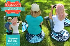 Water Resistant Lawn Cushions with Carry Duffle: Outdoor Living with Fabric.com