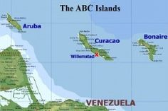 The ABC Islands are known for their beautiful beaches and world class dive sites. Located a few miles north of Venezuela in the southern Caribbean, this group is made of Bonaire, Aruba and Curacao.