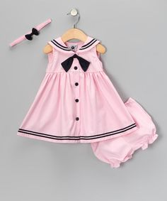 Take a look at this Pink Nautical Dress Set - Infant by Good Lad on #zulily today!