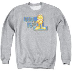 """Checkout our #LicensedGear products FREE SHIPPING + 10% OFF Coupon Code """"Official"""" Garfield / Dad Is Number One - Adult Crewneck Sweatshirt - Garfield / Dad Is Number One - Adult Crewneck Sweatshirt - Price: $39.99. Buy now at https://officiallylicensedgear.com/garfield-dad-is-number-one-adult-crewneck-sweatshirt"""
