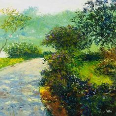 "Dusit Pimchangthong ""Peaceful Walk"", Image size 80x80cm, giclee print Limited Edition Prints, Painting Inspiration, Giclee Print, World, Gallery, Image, Art, Art Background, Kunst"