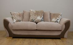 Alex Fabric Sofa in Beige at Furniture Choice - made in the UK