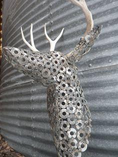 Oh Deer...Faux Deer Head by FerrousWheelDesign on Etsy,