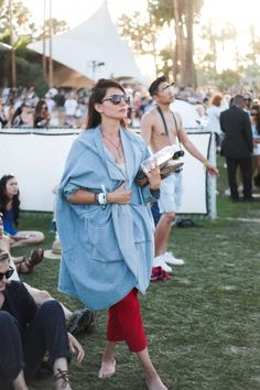 The Best Street Style From Coachella Day 2 | The Zoe Report - http://www.AmericasMall.com/