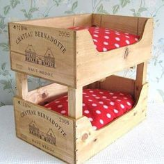 Resultado de imagem para reciclagem beliche de boneca caixa de uva