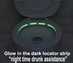this is great for boys and guys who need to pee in the dark of night... it will help avoid missing the bowl.